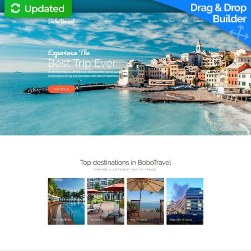 Blog Travel  - MotoCMS 3 Template based on Bootstrap