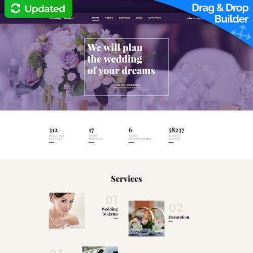 Wedding Planner - MotoCMS 3 Template based on Bootstrap