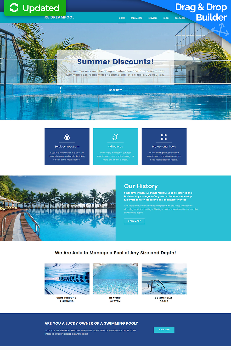 Dream Pool Responsive Website Template - image