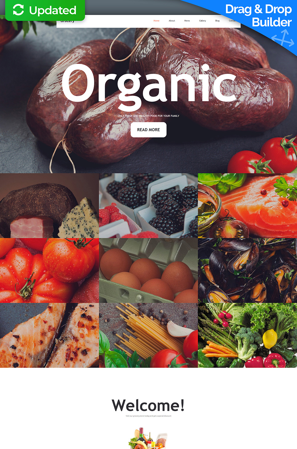 Grocery Responsive Website Template - image
