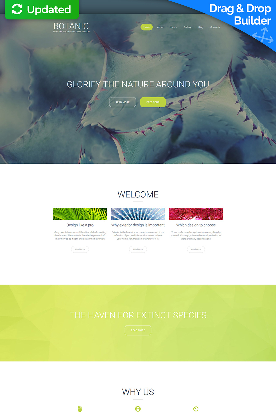 Botanic Responsive Website Template - image
