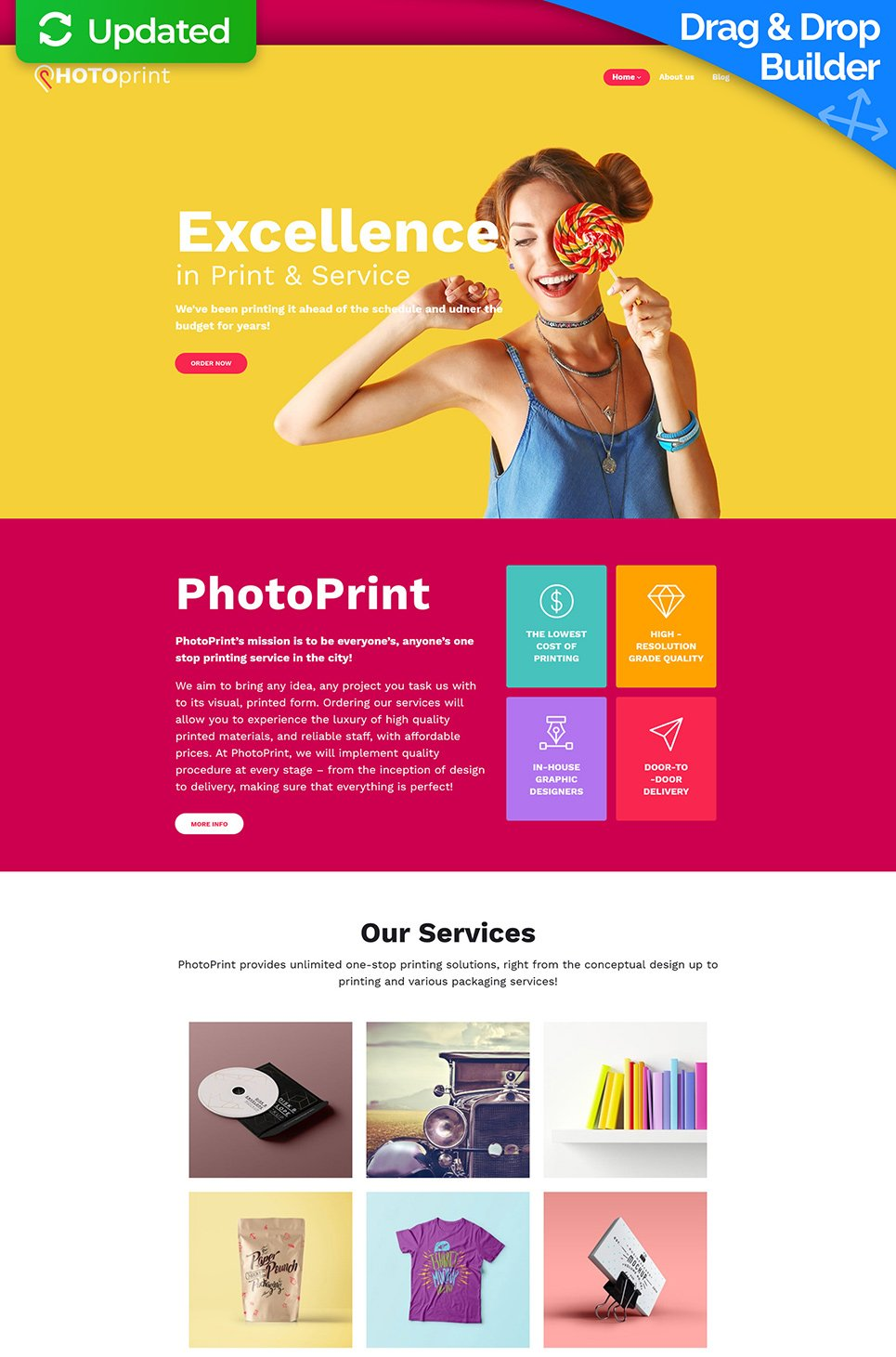 Photo Print Responsive Website Template - image