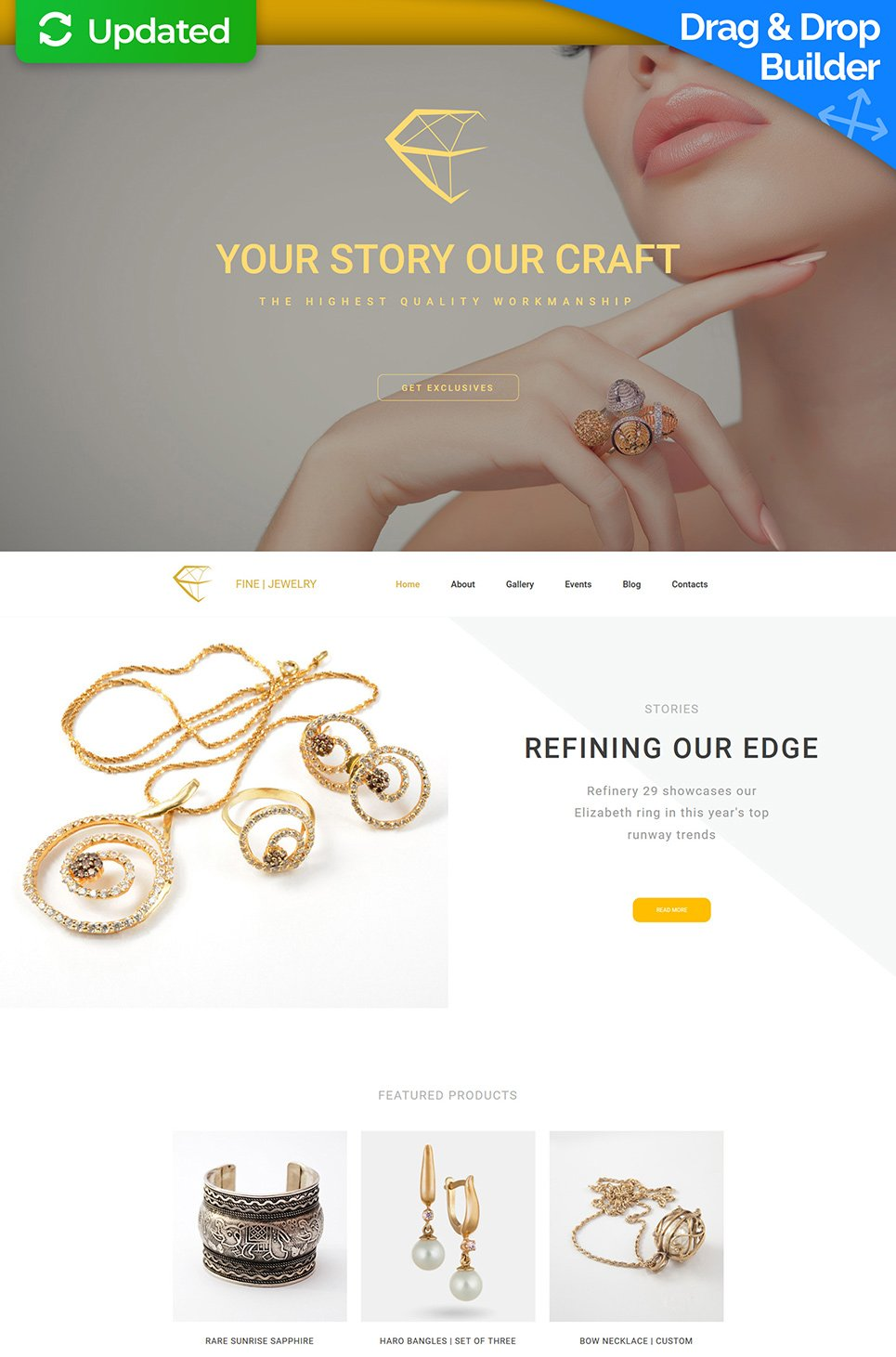 Fine Jewelry Responsive Website Template - image