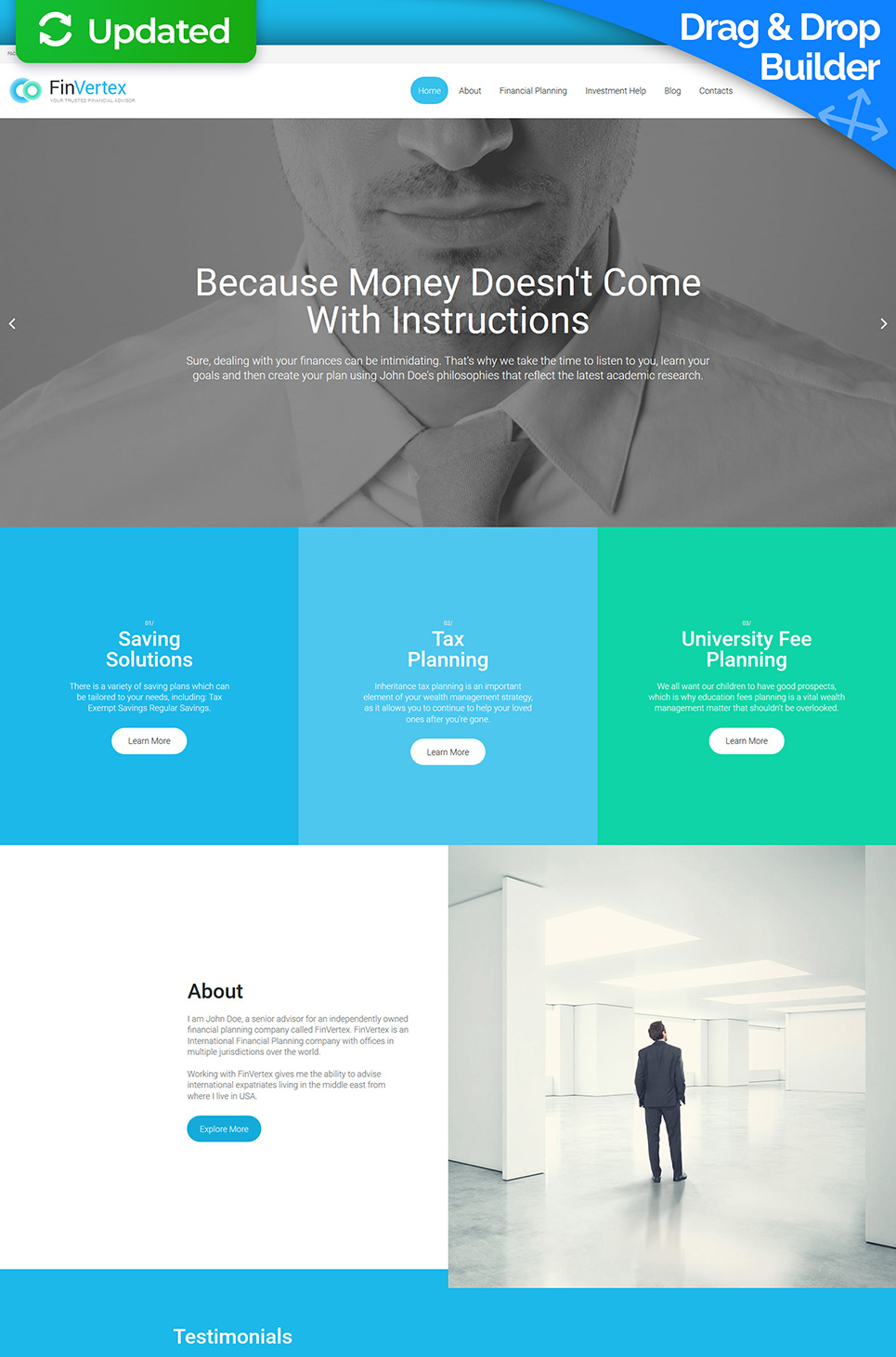 Fin Vertex Responsive Website Template - image