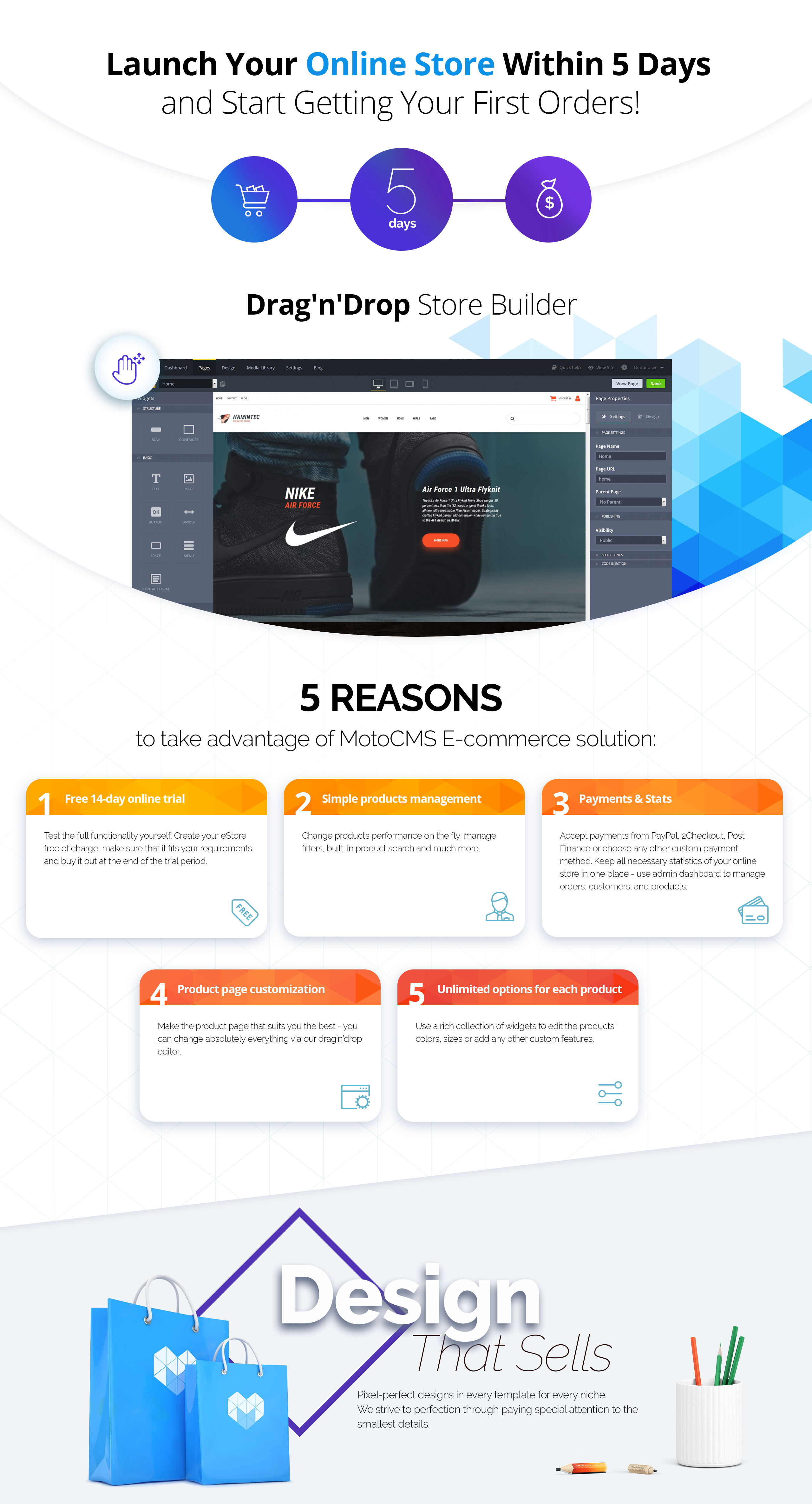 Hamintec - Sneakers Store Responsive MotoCMS Ecommerce Template
