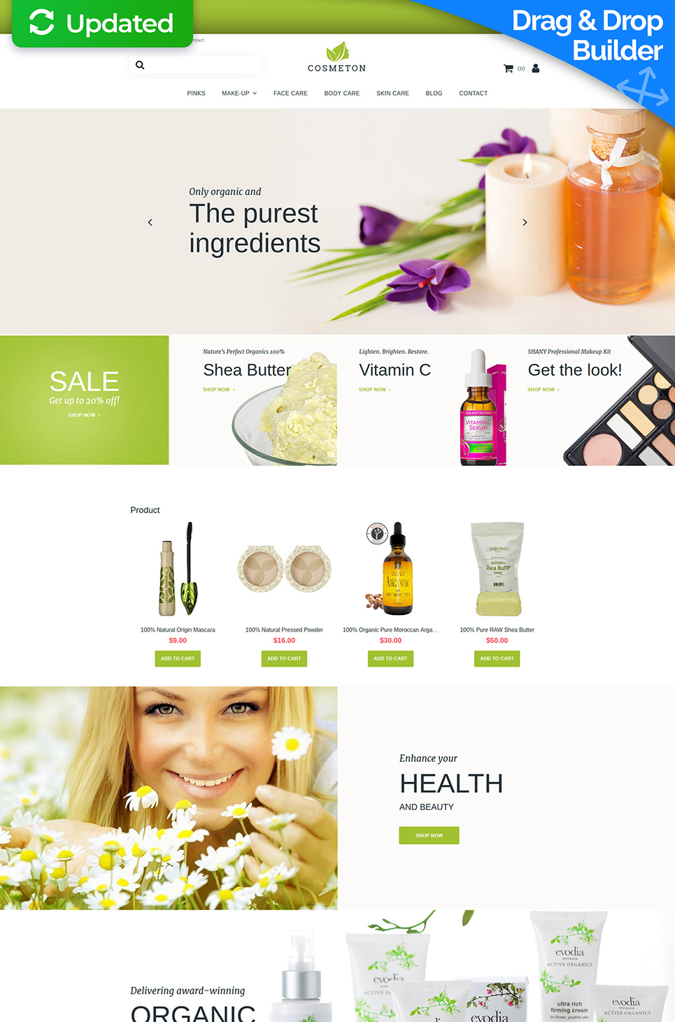 Cosmeton Ecommerce Website Template - image