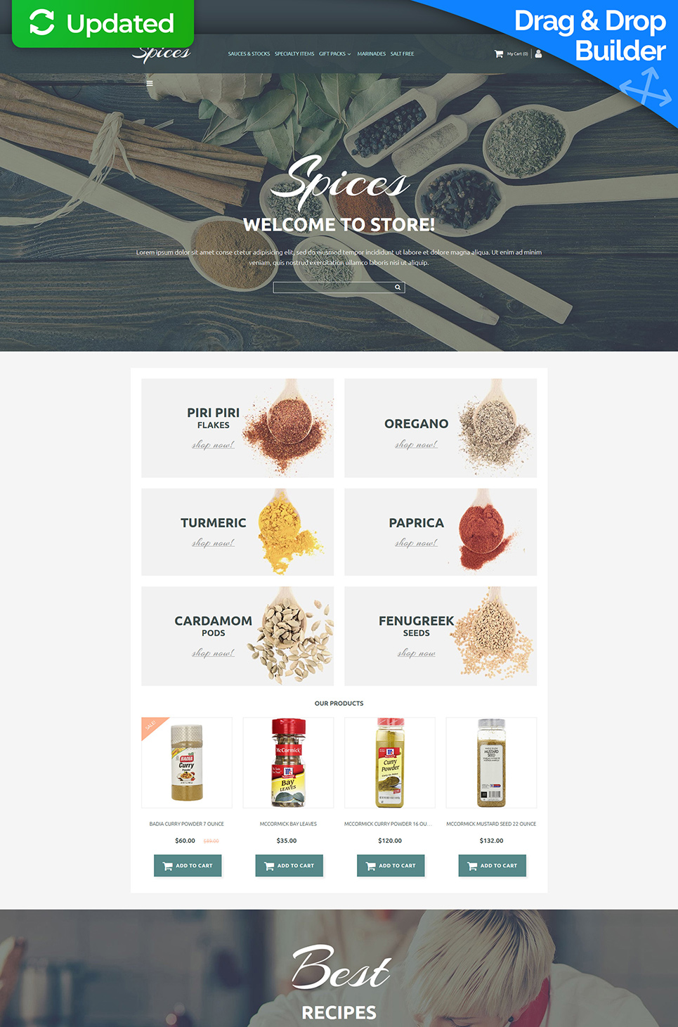 Spice Shop Responsive MotoCMS Ecommerce Template - image
