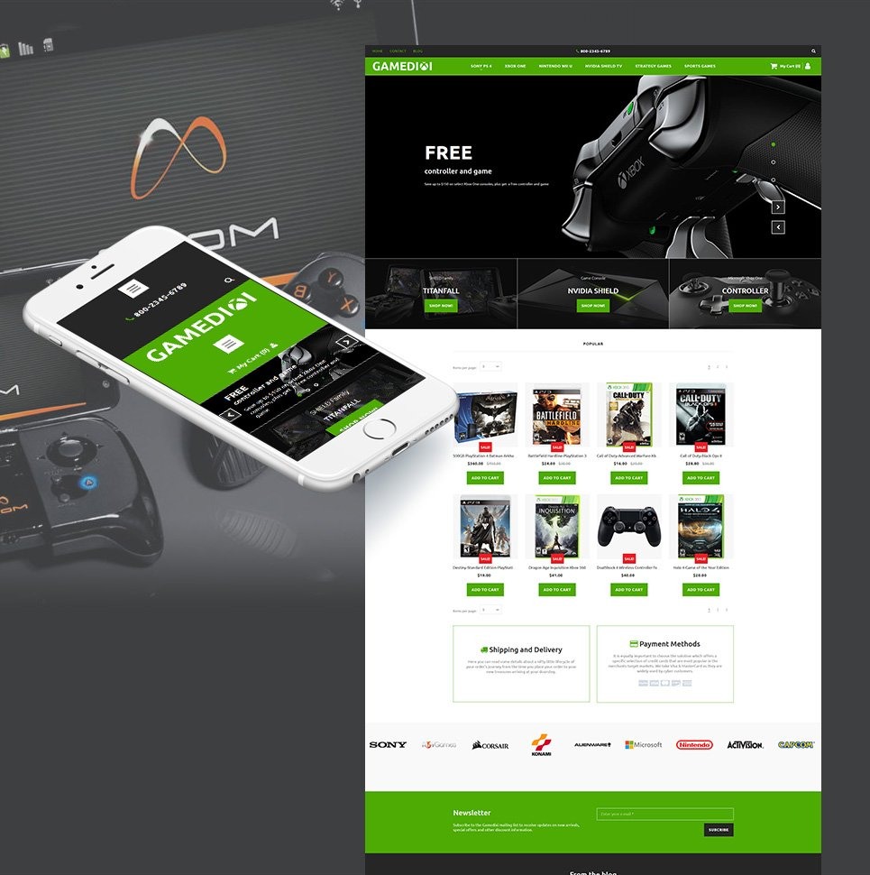 Gamedixi Ecommerce Website Template - image