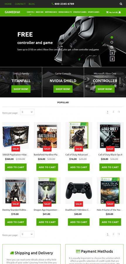 Template #59526 Game Games Motocms Ecommerce Template - Tablet Layout