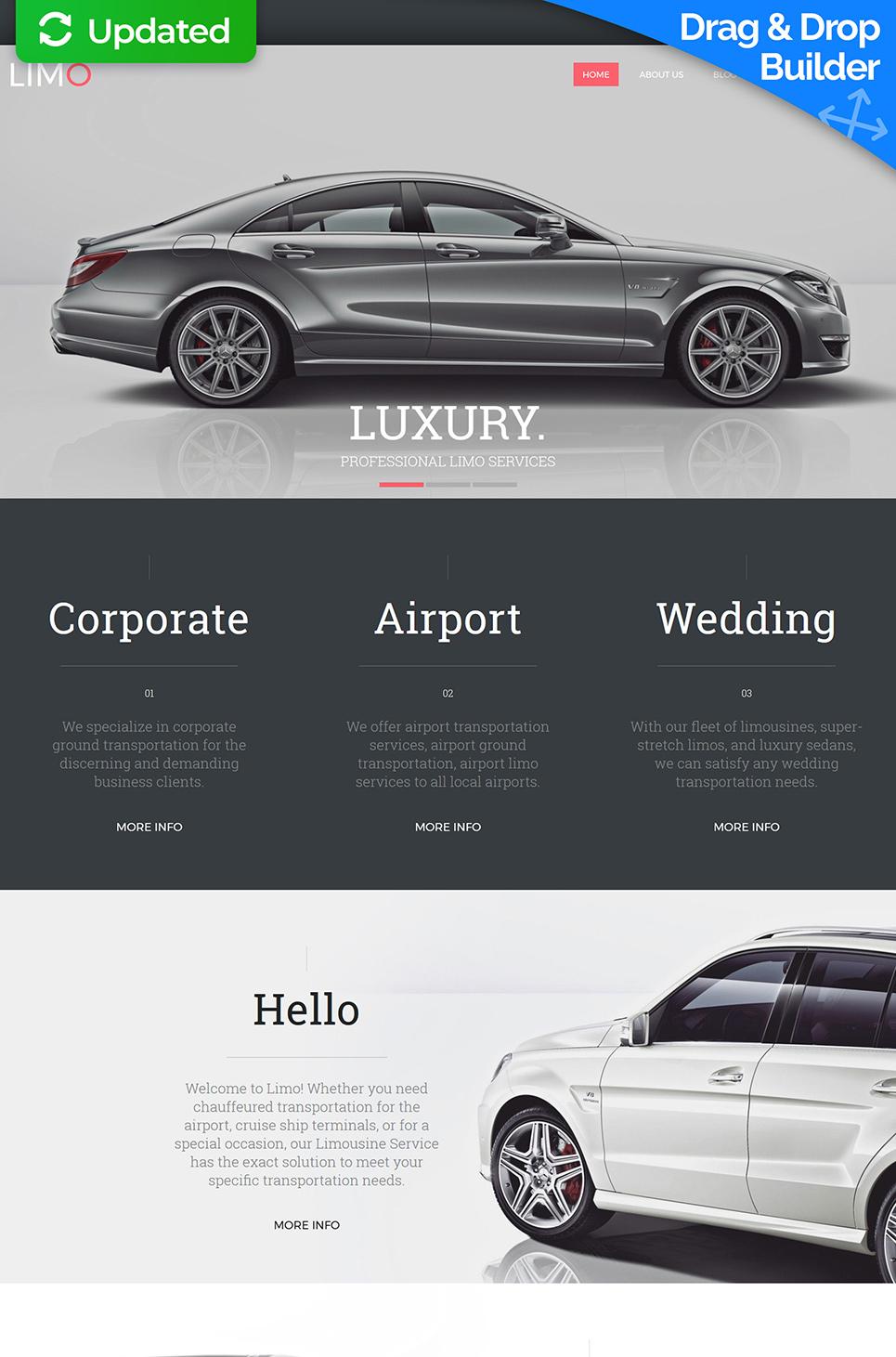 Limousine Services MotoCMS 3 Responsive Website Templates - image