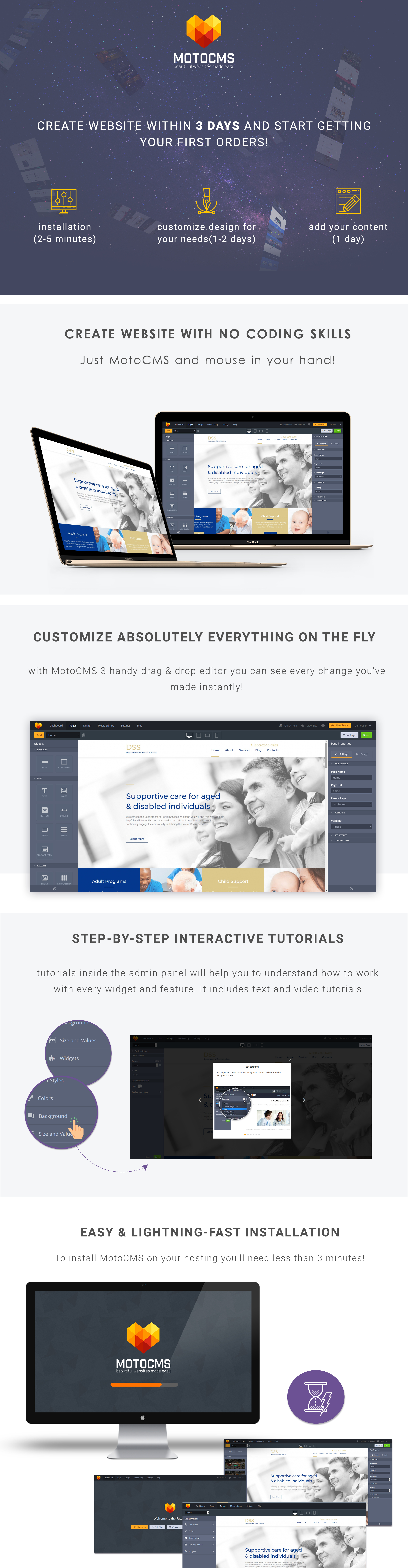 Social Services Responsive Moto CMS 3 Template