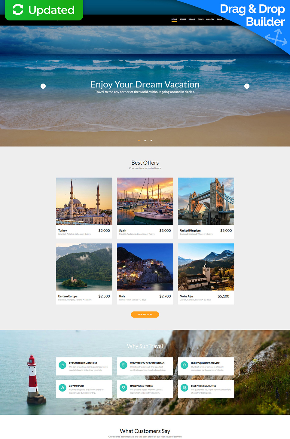 Sun Travel Responsive Website Template - image
