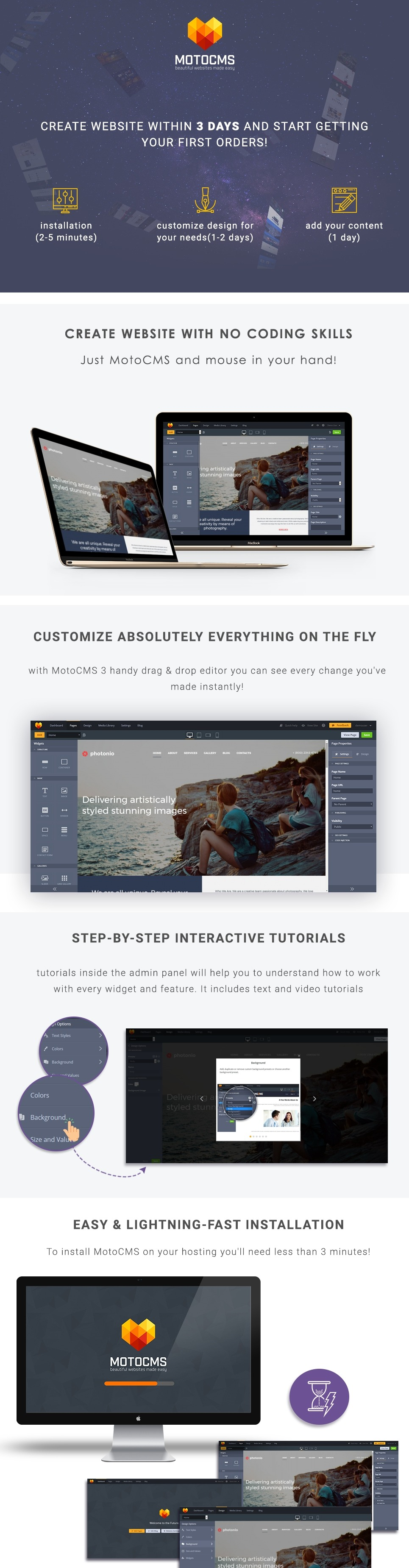 Gallery Blog Template For Photo Blogger Websites Motocms