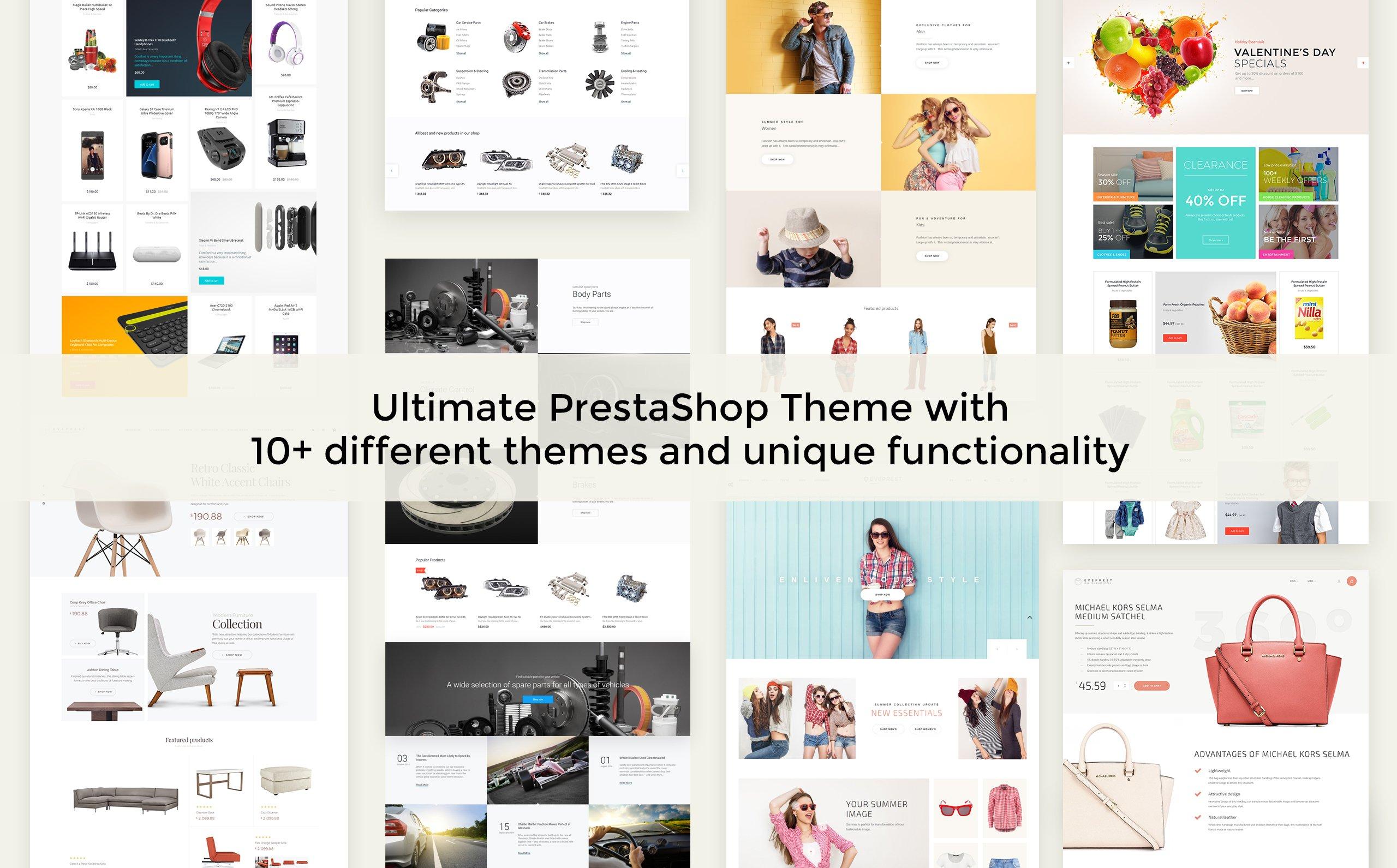 Tema para prestashop - Categoría: Diseño de exteriores - versión para Desktop