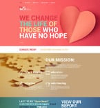 Charity Website  Template 59556