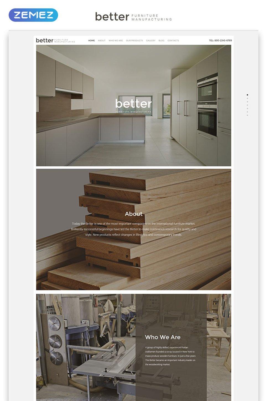 Better Furniture Manufacturing template illustration image