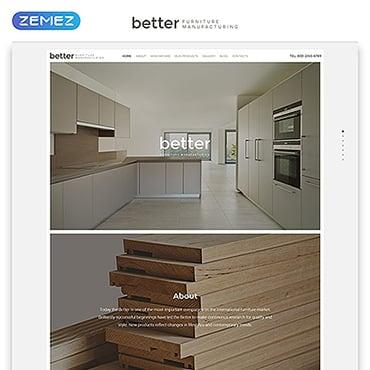 Купить Шаблон сайта мебельной компании. Купить шаблон #59557 и создать сайт.