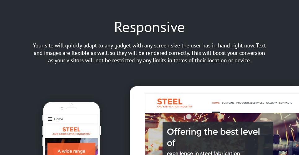 Steel Welding  Responsive Website Template