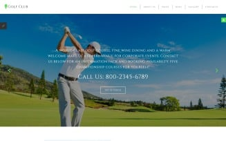 Golf Club - Golf & Sport Joomla Template