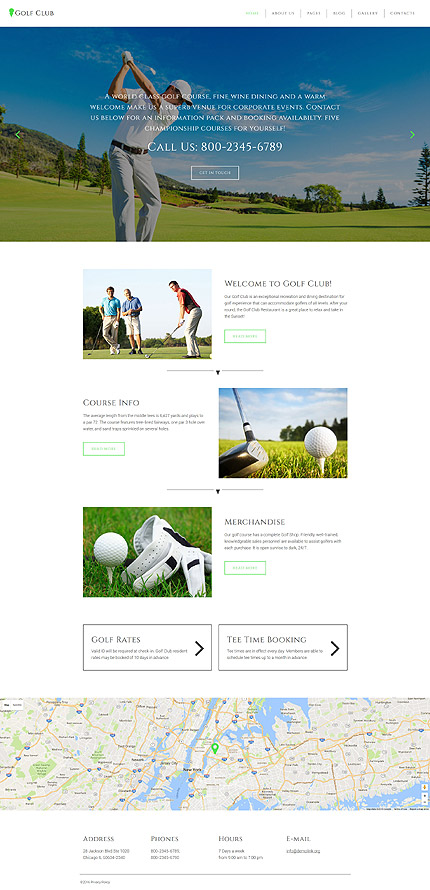 Golf Club - Golf & Sport Joomla Template 3