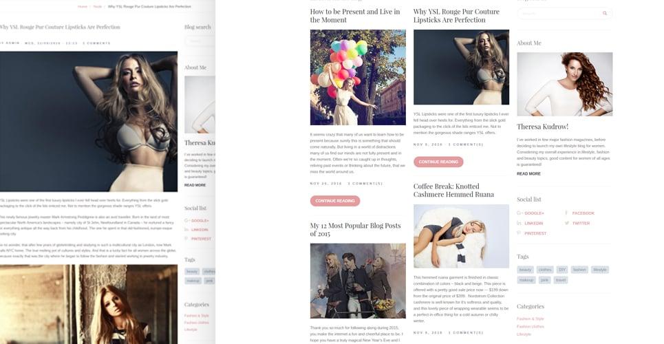 Kustrix - Fashion & Lifestyle Blog Drupal Template