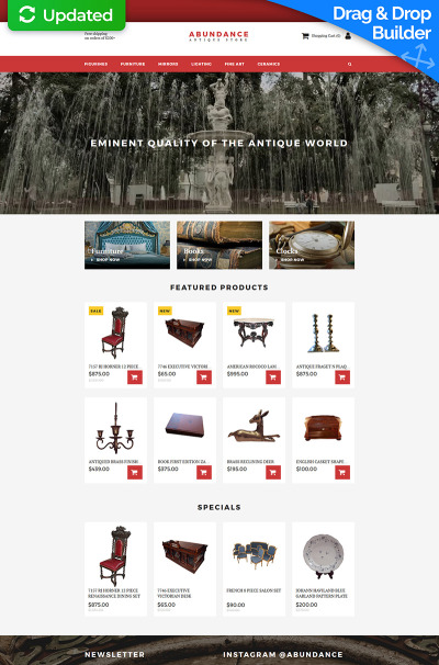 Antique Store Responsive MotoCMS інтернет-магазин