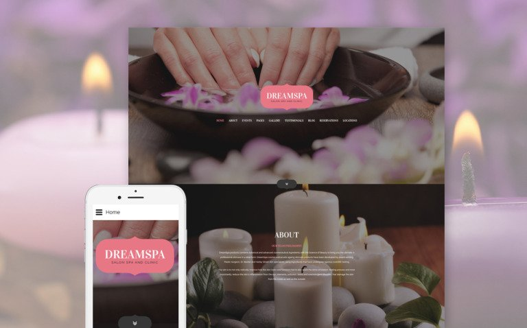 Beauty Parlour Joomla Template New Screenshots BIG