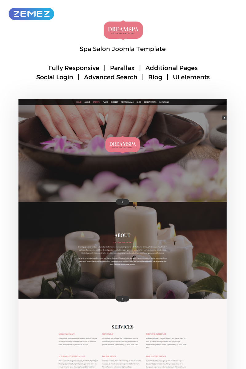 Beauty Parlour Joomla Template