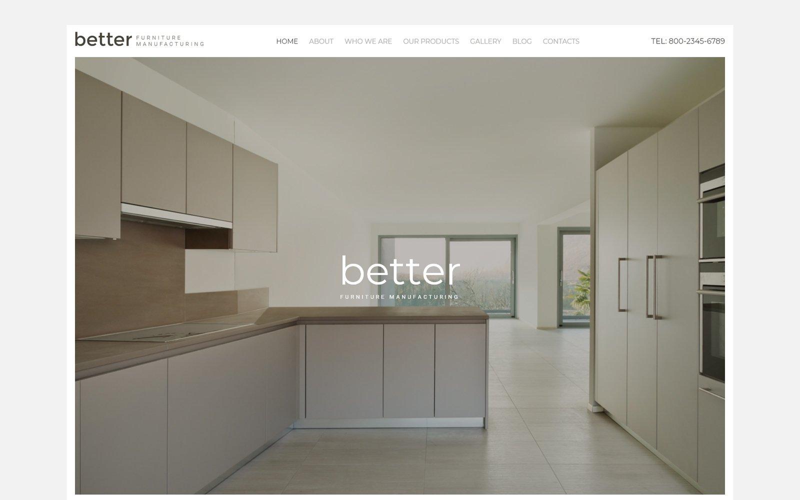 """""""Better - fabrication de meubles"""" modèle web adaptatif #59557 - screenshot"""