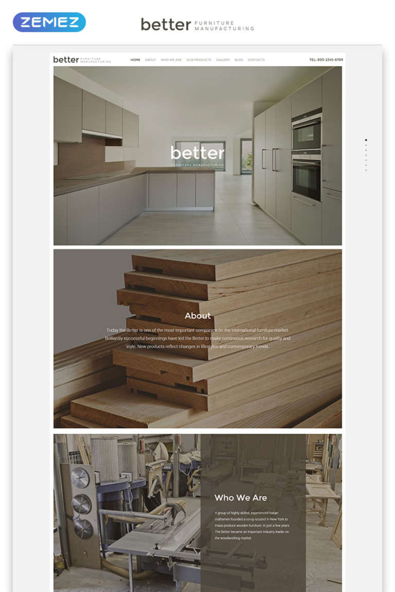 Better Furniture Manufacturing Website Template New Screenshots BIG