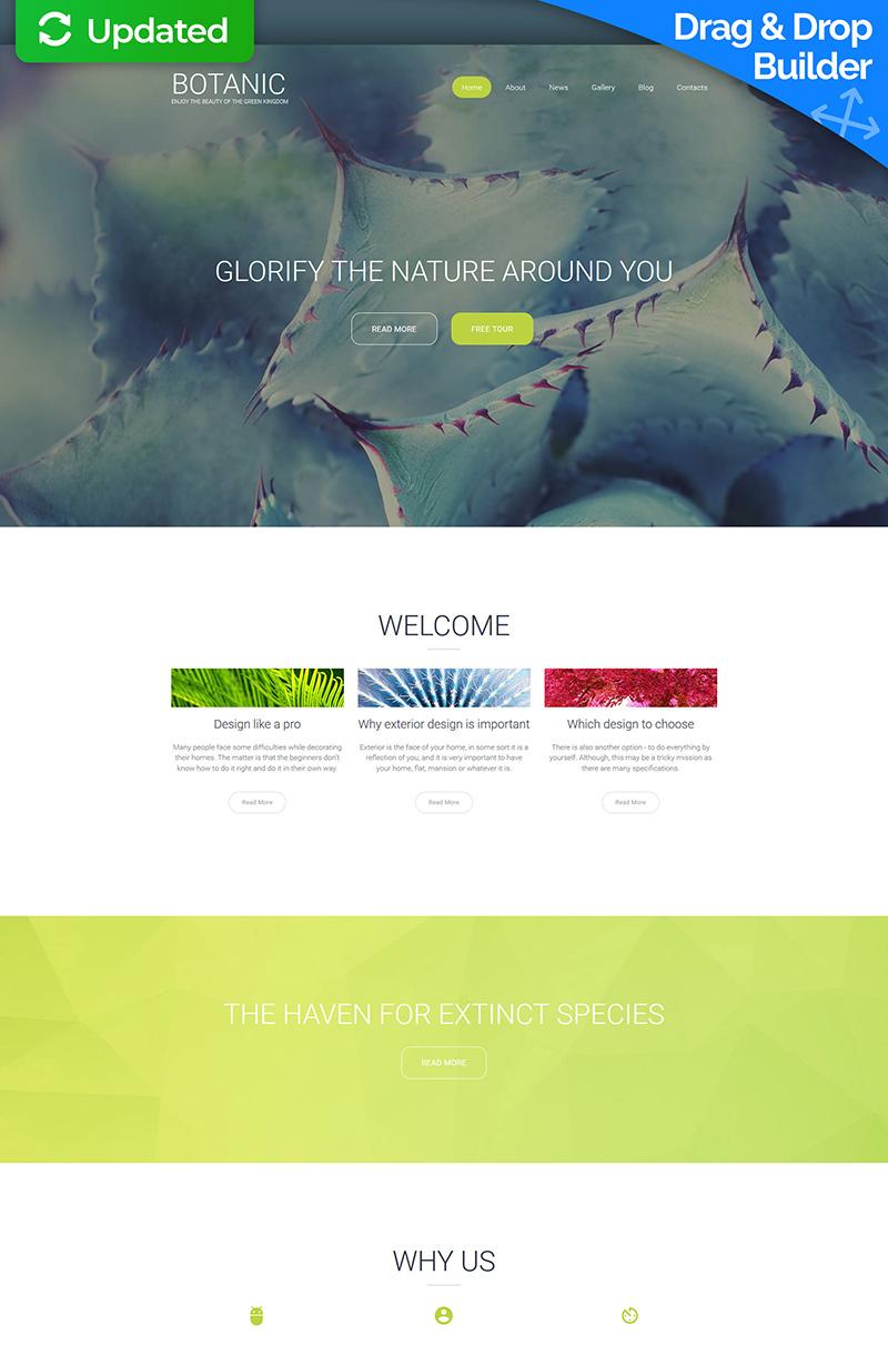 """Botanic Responsive"" modèle Moto CMS 3 adaptatif #59509 - screenshot"
