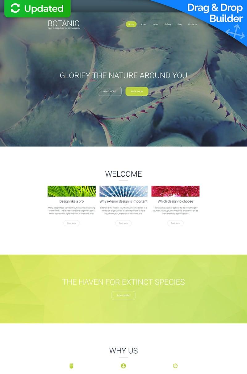 Botanic Responsive Moto CMS 3 Template