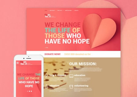 charity organization site template
