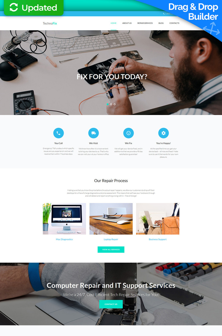 Computer Repair Responsive Moto CMS 3 Template New Screenshots BIG