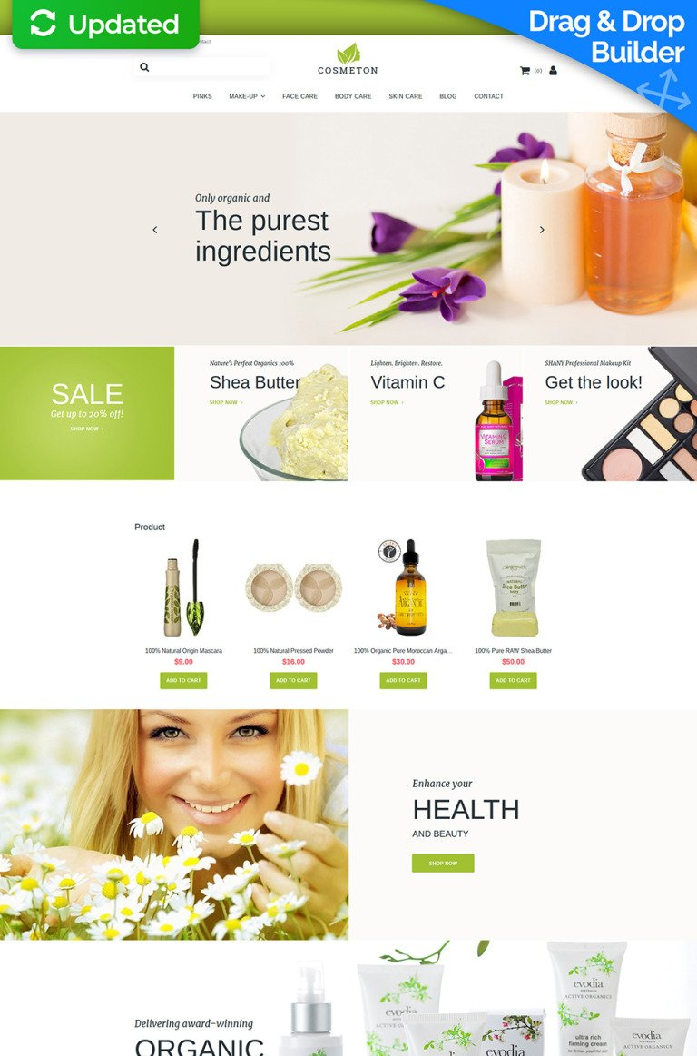 Cosmeton - Skin Care Responsive MotoCMS Ecommerce Template New Screenshots BIG