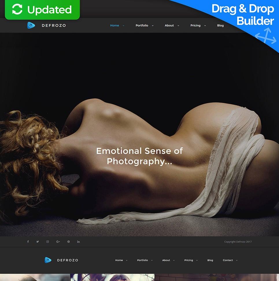 Defrozo Photographer Portfolio Moto CMS 3 Template New Screenshots BIG