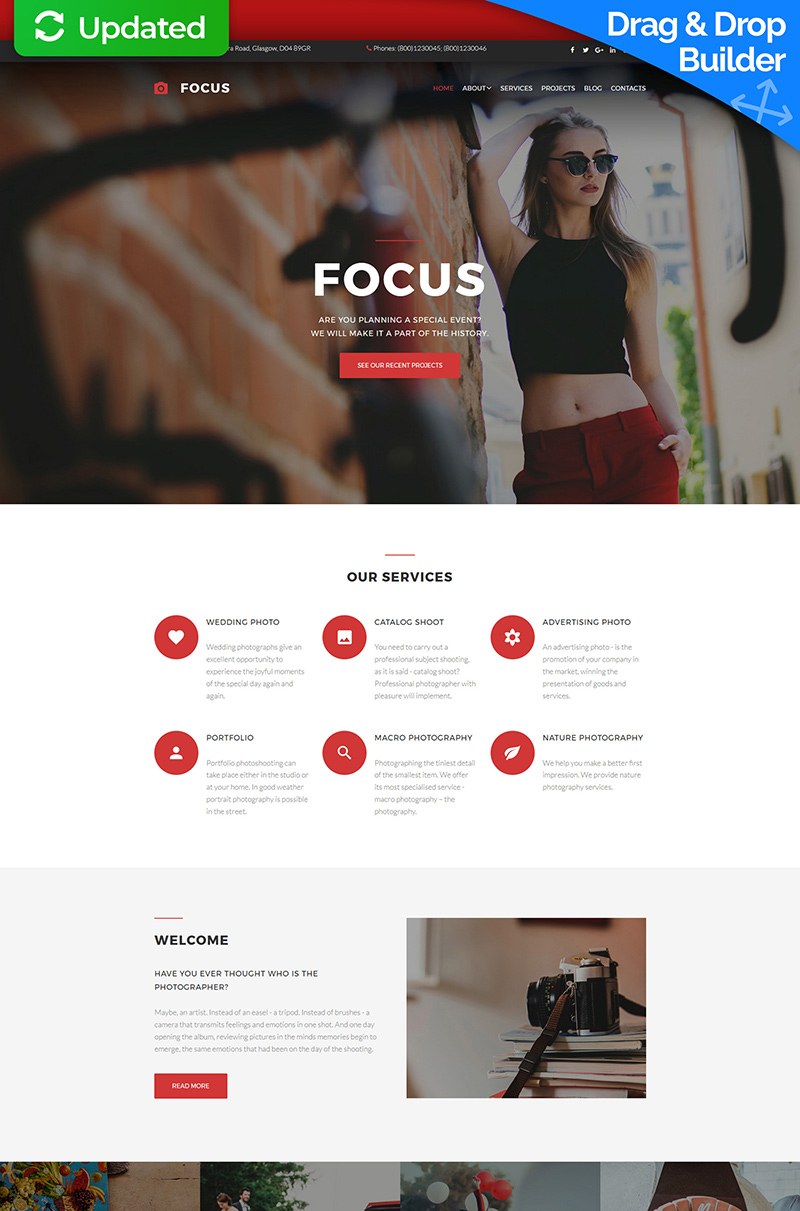 Design & Photography Photo Gallery Template
