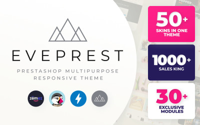 """Eveprest"" - адаптивний PrestaShop шаблон #59555"