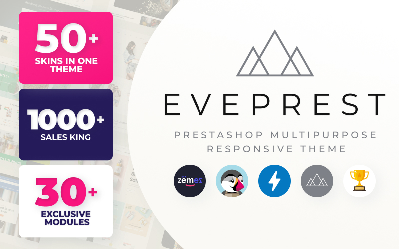 Eveprest - Multipurpose eCommerce Template PrestaShop Theme