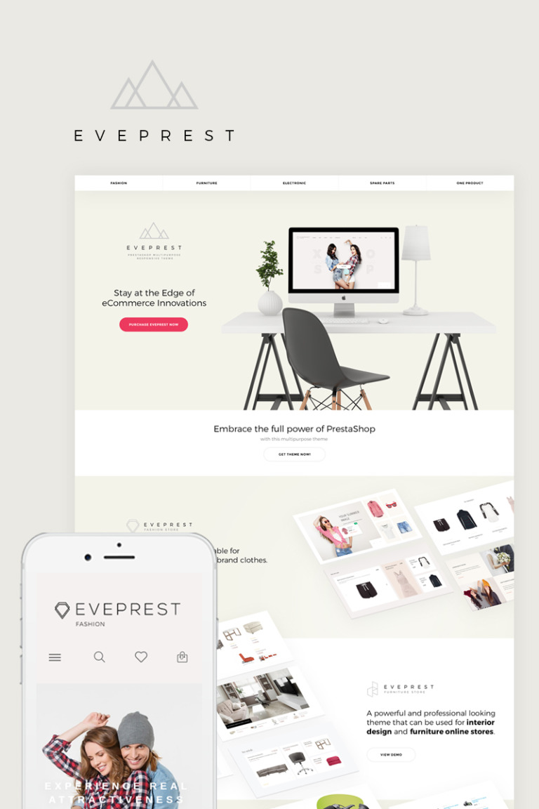 Eveprest - Multipurpose PrestaShop Theme Big Screenshot