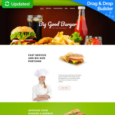 Fast Food Restaurant Bootstrap Themes | TemplateMonster
