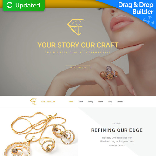 Fine Jewelry - MotoCMS 3 Template based on Bootstrap