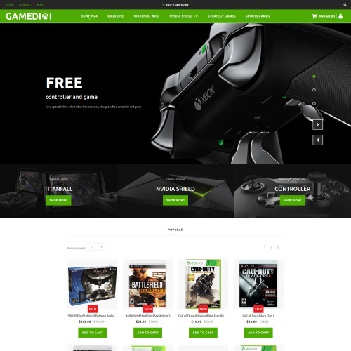 Gamediol - MotoCMS Ecommerce Template based on Bootstrap