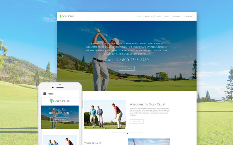 Golf Club - Golf & Sport Joomla Template New Screenshots BIG
