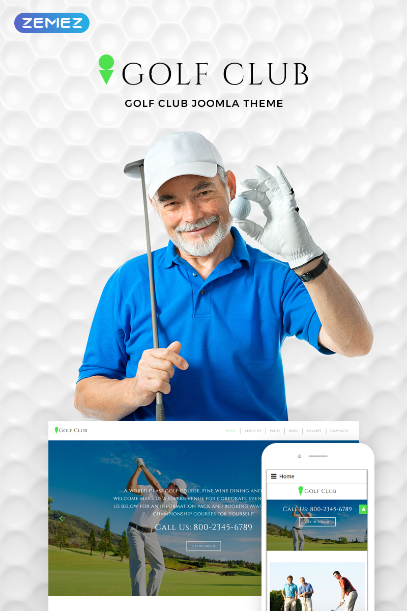 Golf Club - Golf & Sport Joomla Template - screenshot