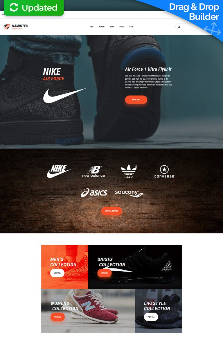 Hamintec - Sneakers Store Responsive MotoCMS Ecommerce Template New Screenshots BIG