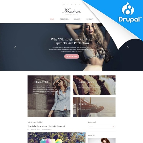 Kustrix  - Drupal Fashion Template based on Bootstrap