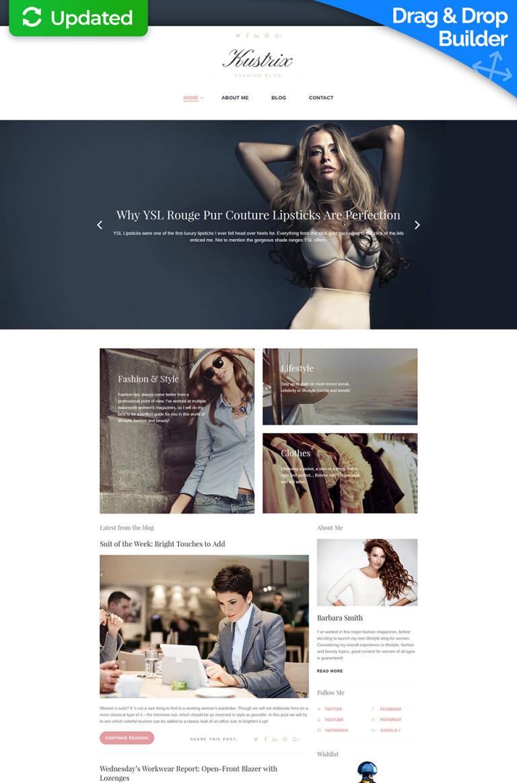 Kustrix - Fashion Responsive Moto CMS 3 Template New Screenshots BIG
