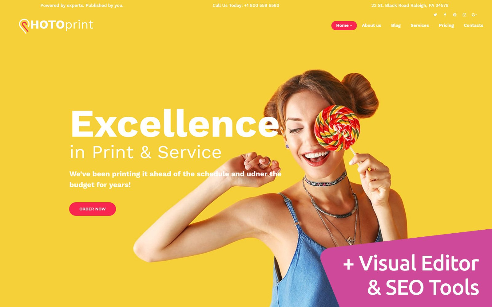 "Moto CMS 3 Template namens ""Print Shop"" #59510"