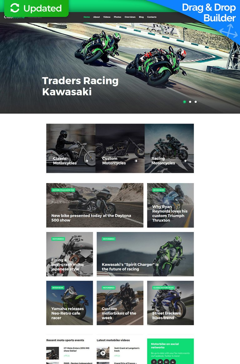 Motor Sports Responsive Moto CMS 3 Template New Screenshots BIG